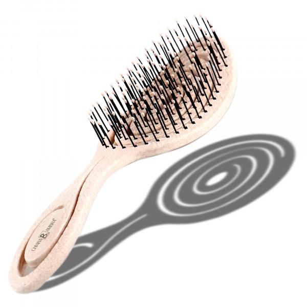 CHIARA AMBRA® Straw hairbrush nature