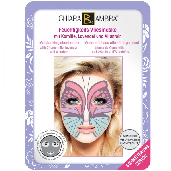 CHIARA AMBRA® Animal Design Sheet Masks – Butterfly Design