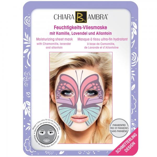 CHIARA AMBRA® Gesichtsmaske im Tierdesign - Schmetterling Motiv