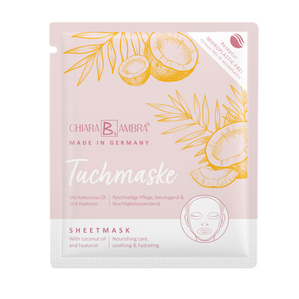 CHIARA AMBRA® sheet mask with coconut oil, MADE IN GERMANY