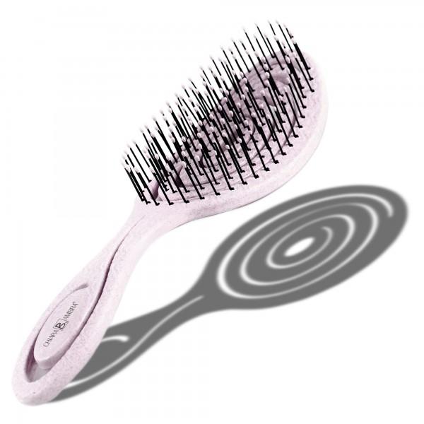Haarbürste mit Stroh pink