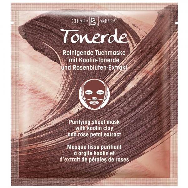 CHIARA AMBRA® Reinigende Tuchmaske mit Kaolin-Tonerde und Rosenblüten-Extrakt