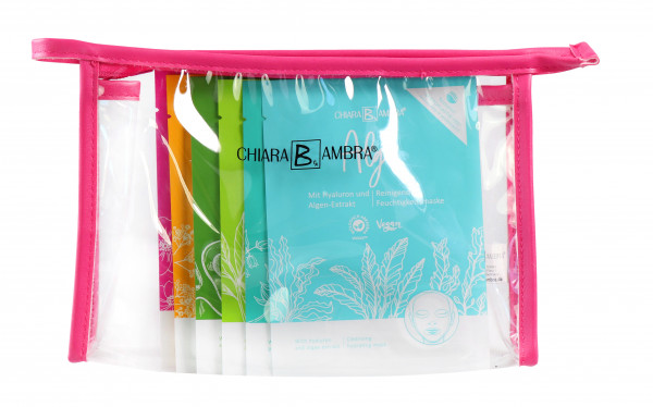 CHIARA AMBRA® Home-Spa set with 6 sheet masks
