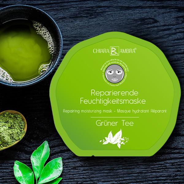 CHIARA AMBRA® Face Sheet Mask Green Tea