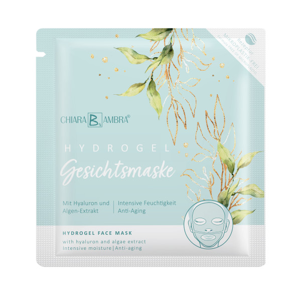 CHIARA AMBRA® Hydrogel face mask with algae extract and hyaluron