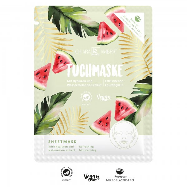 CHIARA AMBRA® Refreshing sheet mask with watermelon extract - SUMMER VIBES
