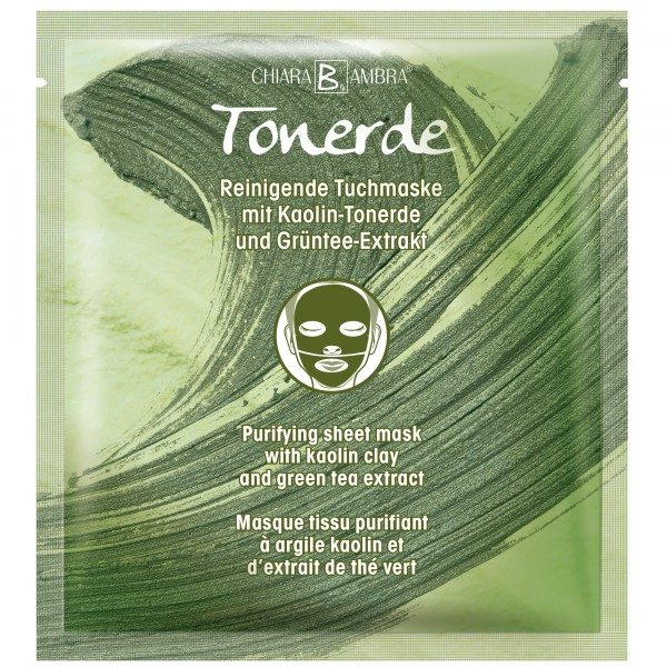 CHIARA AMBRA® Purifying sheet mask with kaolin clay and green tea extract