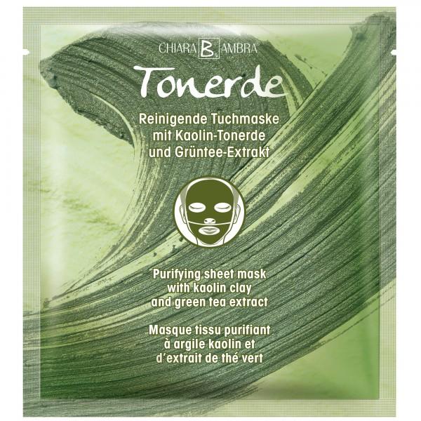 CHIARA AMBRA® Reinigende Tuchmaske mit Kaolin-Tonerde und Grüntee-Extrakt